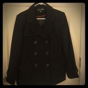 Cute black pea coat!!